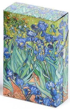 Mini Hinged Tin Box Van Gogh Irises
