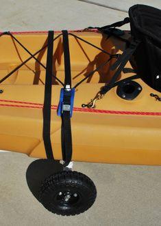 Need DIY Bulletproof Kayak Cart - Build Instructions + Pics Kayak Roof Rack, Kayak Cart, Kayak Storage, Fishing Cart, Kayak Fishing Tips, Fishing Tackle Box, Hobie Kayak, Kayaks, Kayaking With Kids