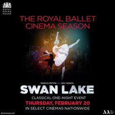 Watch The Royal Ballet perform Swan Lake at a movie theater near you! http://www.fathomevents.com/event/royal-ballet-swan-lake?utm_source=DanceAdvantage4Dancers&utm_medium=SwanLakeBanner&utm_campaign=ROHBallet
