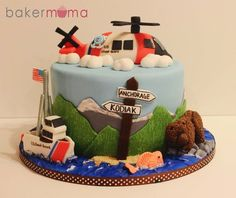 Coast Guard Alaska cake (cake by Bakermama @ cakesdecor.com)