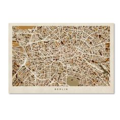 Michael Tompsett 'Berlin Germany Street Map' Canvas Wall Art