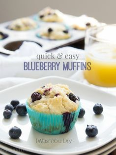 Quick Blueberry Muffins | I Wash...You Dry