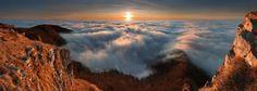 雲に飲み込まれたスロバキア・Klakuの景色。