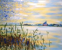 I am going to paint Monet's River Seine at Pinot's Palette - Leawood to discover my inner artist!