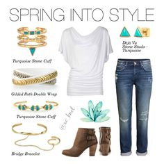 Stella & Dot | Spring Into Style | Spring into style with pops of gold, turquoise and white! Our new Spring pieces will add a little sunshine to your winter! #Stelladot #PolyvoreByXOKnot #StelladotStyle #Spring #Stylist #Polyvore #Outfit #Fashion #WomensFashion #Accessories #FashionTrends #Style