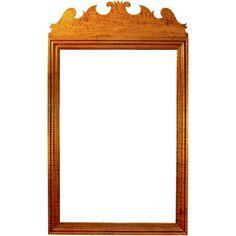 18th century antique reproduction Mirrors Fleur-De-Lis Mirror
