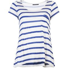 VELVET Millicent striped t-shirt ($72) ❤ liked on Polyvore