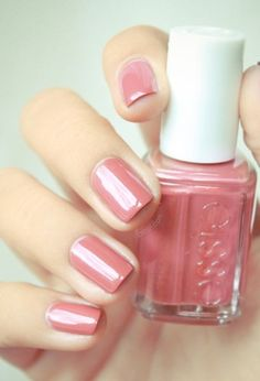 Keep things classic with this beautiful soft pink nail polish.