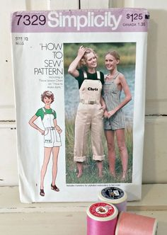 Vintage Sewing Pattern | 1976 Simplicity Misses Jumpsuit in Two Lengths | Size 12 by LittleBohoCottage on Etsy $4.50