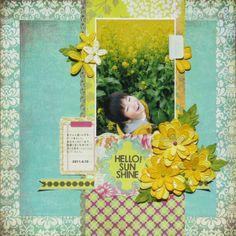 "Hello Sunshine by Miyuki Kawakami Basic Grey collection""Hello Luscious"","