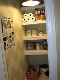 Chevron Painted Pantry {before and after}