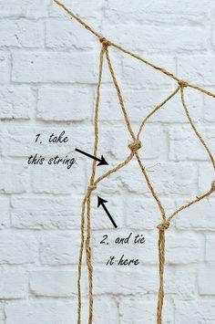 Fishnet DIY: How to Make Decorative Fishnet for Beach Decor