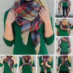 Как красиво завязать шарф-палантин