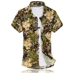14 Colors 2018 Fashion Mens Short Sleeve Silk Hawaiian Shirt Plus Size Summer Casual Floral Shirts Men Fashion 2017, Mens Fashion, Floral Shorts, European Fashion, Cotton Shorts, Casual, Men Shirts, Shirt Men, Silk Shirts