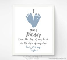 Personalized+Father's+Day+Gift+for+New+Dad++I+by+PitterPatterPrint,+$30.00