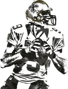 4c34ec806 Drew Brees New Orleans Saints Pixel Art 2 Art Print by Joe Hamilton