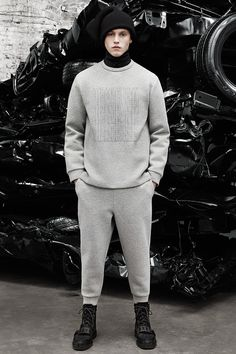 Alexander Wang Men's Fall 2014 Collection from Paris Fashion Week at Fashionably Male.