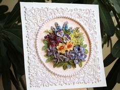 Art Quilling, Paper Quilling Flowers, Paper Quilling Designs, Paper Flowers Wedding, Wedding Paper, Quilling Photo Frames, Wedding Gift Messages, Wedding Gifts, Shadow Box