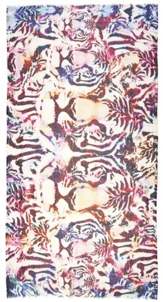 Luxury Scarves, Clothing · Lily and Lionel Textile Prints, Textile Design, Textiles, Cool Patterns, Print Patterns, Pattern Art, Pattern Design, Tiger Love, Safari Theme