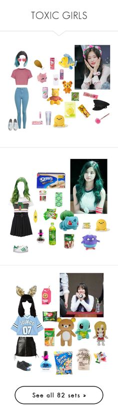 """""""TOXIC GIRLS"""" by official-toxicgrils on Polyvore featuring Forever 21, Hot Topic, INC International Concepts, Topshop, ban.do, Rad+Refined, Cotton Candy, Yves Saint Laurent, Casetify e Tony Moly"""