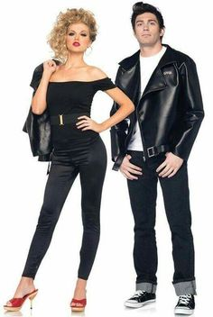 Grease couples Halloween costumes - Sandy and Danny