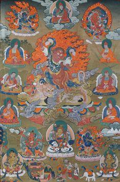 Guru Dorje Drolö - a manifestation of Guru Rinpoche in Paro Taktsang Rigpa Wiki Thangka Painting, Buddhism, North West, Lions, Ale, Pure Products, Tibetan Buddhism, Teachers, Lion