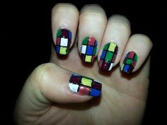 Barry M Rubix Cube Nail Art!
