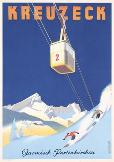 I actually own this travel poster, bought it in Garmisch