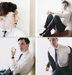 Benedict cumberbatch is wearing stripy socks with a suit. your argument is invalid