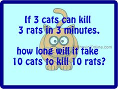 If 3 cats can kill 3 rats in 3 minute