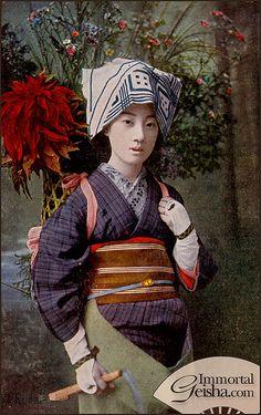 Geiko Tomigiku 富菊 in Odori Costume, ca 1912-26, Japan. S)