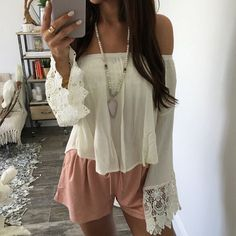 Sexy Women Casual Boho Lace Off Shoulder Shirt Summer Crop Tank Tops Blouse Shirts blusa feminina White Blouse
