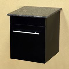 Solid Wood Wall Mount Style Side Cabinet - Black - 203108-CABINET