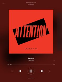 This is one of my favorite songs right now!!! Jam to it in the car every day Attention| by Charlie Puth