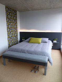 R sultat de recherche d 39 images pour banc pour bout de lit fait mais - Eclairage tete de lit led ...