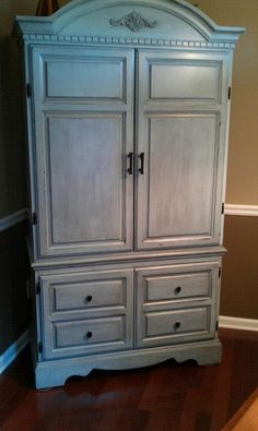 Our Armoire to bar conversion - The outside.  Thanks Mary Oates-Thompson!  It was her Idea!