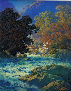 Maxfield Parrish Swift-water