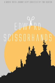 I'm making movie posters. This is Edward Scissorhands, a Tim Burton movie. Minimal Movie Posters, Minimal Poster, Cool Posters, Film Posters, Music Posters, Art Posters, Tim Burton, Winona Ryder, Edward Scissorhands Tattoo