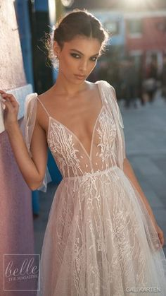 Gali Karten Wedding Dresses 2018 - Burano Bridal Collection features exquisite gowns in a plethora of gorgeous silhouettes. Bridal Outfits, Bridal Dresses, Prom Dresses, Wedding Dresses 2018, Dress First, Dream Dress, Bridal Collection, Wedding Styles, Marie