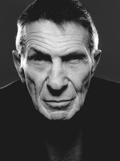 "Leonard Nimoy ~ ""My folks came to U.S. as immigrants, aliens, and became citizens. I was born in Boston, a citizen, went to Hollywood and became an alien."""