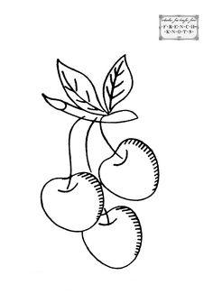 Cherries Jubilee Embroidery Transfer Pattern