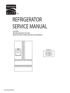 Kenmore Refrigerator Repair >> 16 Best Kenmore Refrigerator Service Manual Images In 2019