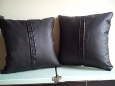 Scattered Cushion Covers Black Metal Studs Leather Satin Lace Gothic Goth Chic | eBay