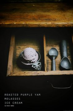 roasted purple yam molasses ice cream by abrowntable, via Flickr