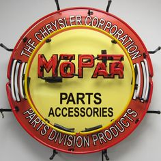 Mopar Parts Division Neon Sign