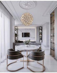 "61 best modern house design interior ideas for 2019 35 > Fieltro.Net""> 61 Best Modern House Design Interior Ideas For 2019 - Best Modern House Design, Modern Interior Design, Classic Interior, Modern Decor, Luxury Dining Room, Dining Room Design, Luxury Homes Interior, Luxury Home Decor, Sweet Home"