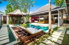 Lounge in the Bale or on the sun-lounge. It's nice to have choice. Indoor, outdoor living is what Bali is all about