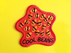 Cool Beans Patch Funny Embroidered Patch Iron On by helloDODOshop