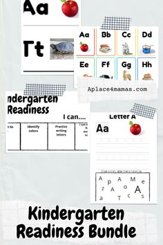 Get ready for kindergarten with this alphabet bundle! All of these products utilize the same photos, making learning their letters easy! This bundle gives you the kindergarten readiness coloring chart, alphabet writing practice book, alphabet flashcards, and alphabet book! Kindergarten Readiness, Homeschool Kindergarten, School Readiness, Homeschooling, Alphabet Writing Practice, Alphabet Book, Preschool Activities At Home, Toddler Preschool, Learning Numbers