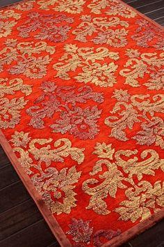 Transitional Floral Pattern Rug - Red/Orange by Jaipur Rugs Inc. on @HauteLook